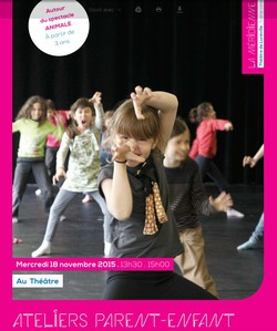 Ateliers parent-enfant d'initiation à la danse - Méridienne -- 02/11/15